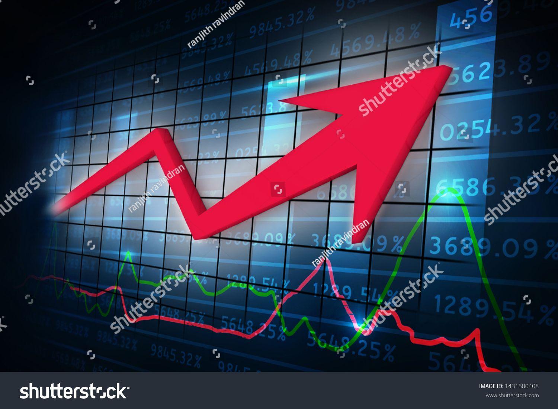 3d rendering Stock market online business concept business Graph