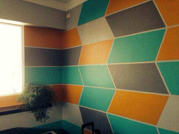 Wand Farben Ideen Geometrische Figuren