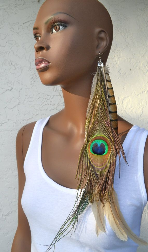 Very Long Peacock and Pheasant Single Feather by MarcieRoxx, $34.00