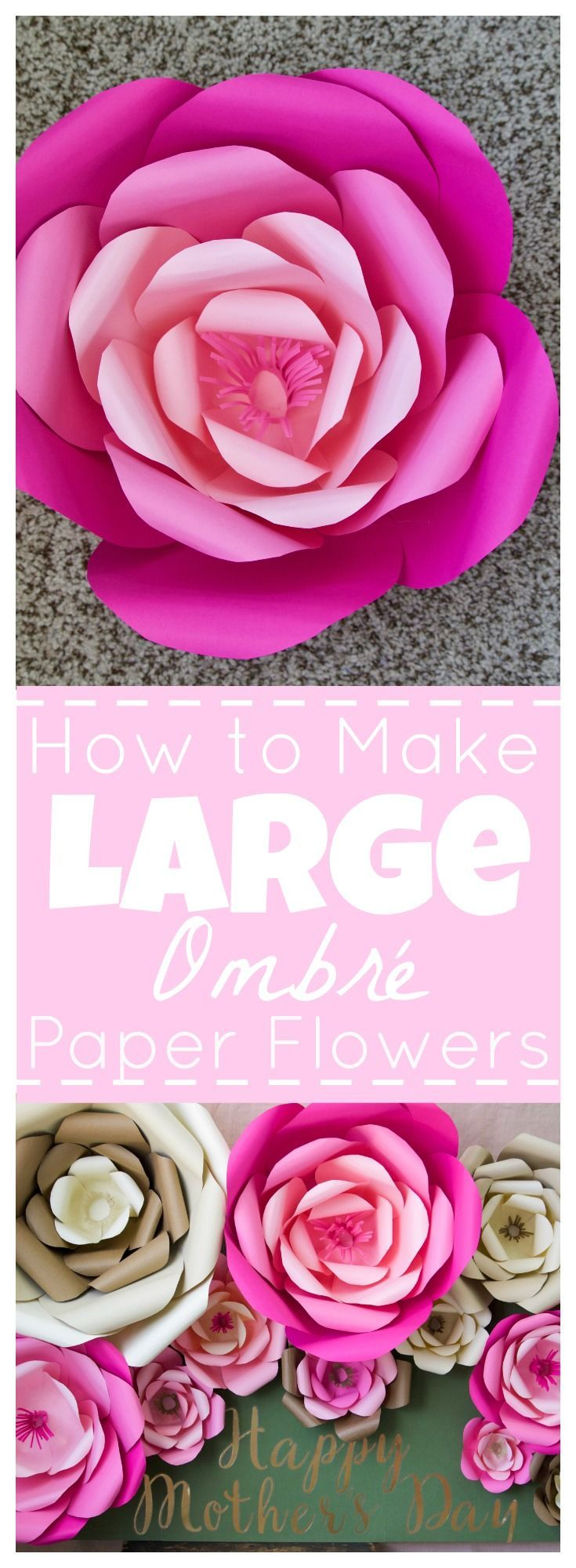 How To Make Large Paper Flowers Paper Flowers Pinterest Large