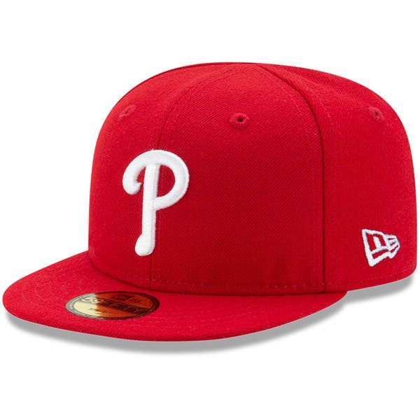 0888f6510b8 Philadelphia Phillies New Era Infant Authentic Collection On-Field My First  59FIFTY Fitted Hat -