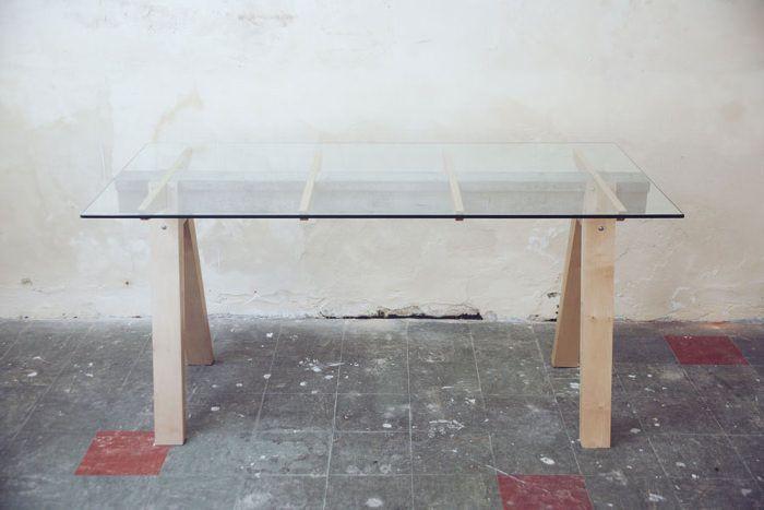 Beam desk le bureau bois béton verre studio temper bureaus