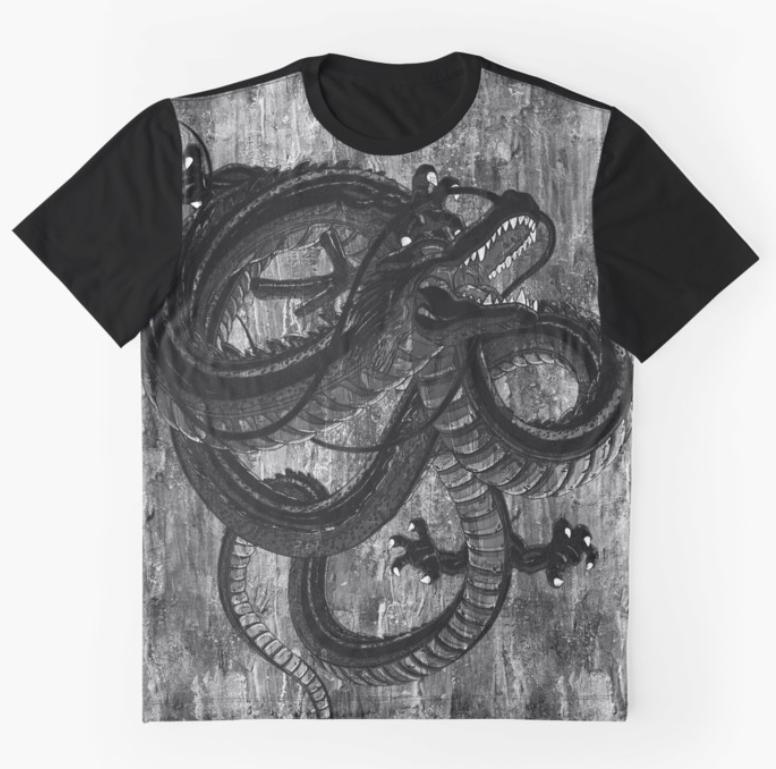 Graphic T-shirt: Mystic Dragon | Displate thumbnail