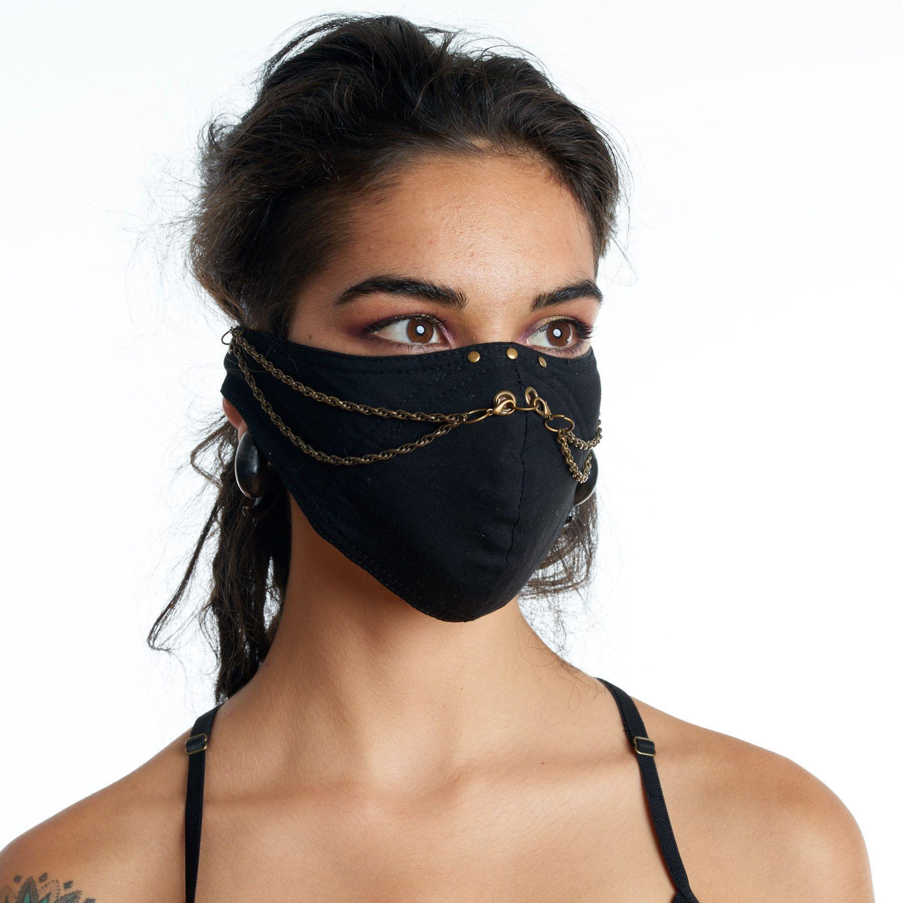 Ninja Chain Face Mask Fashion mask, Burning man fashion