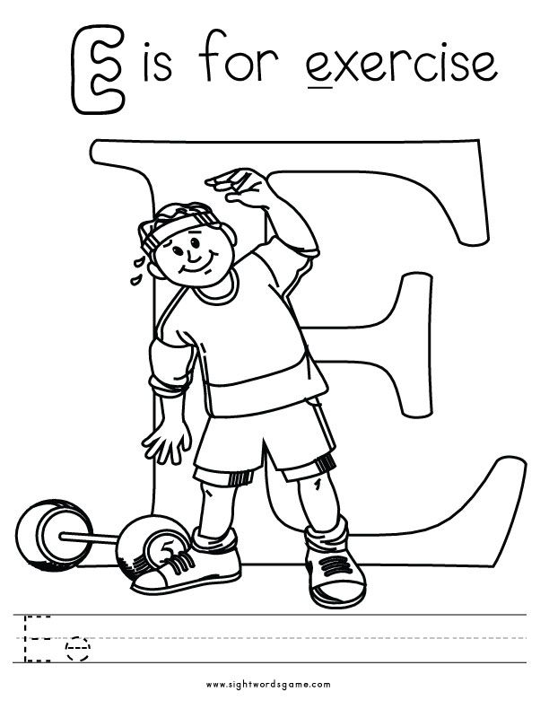 Letter-E-Coloring-Page-2 Kids Learning, Teaching,  Homeschool - community service letter