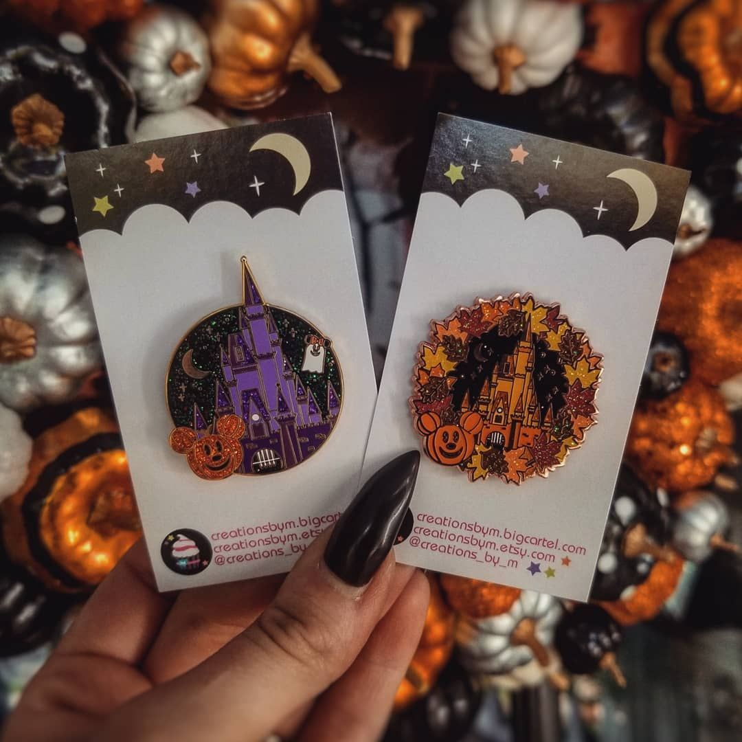 These pins are 👏 amazing 👏 ! 🎃🖤🍂 @creations_by_m#disney #disneypins  #halloween #theharvestmoonwitch | Cute pins, Pretty pins, Pin collection