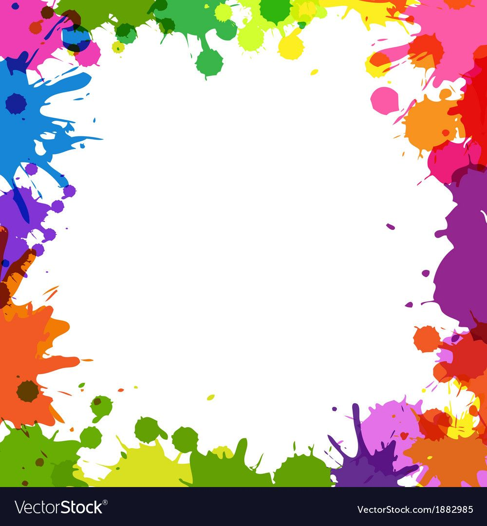 Frame With Color Blobs vector image on