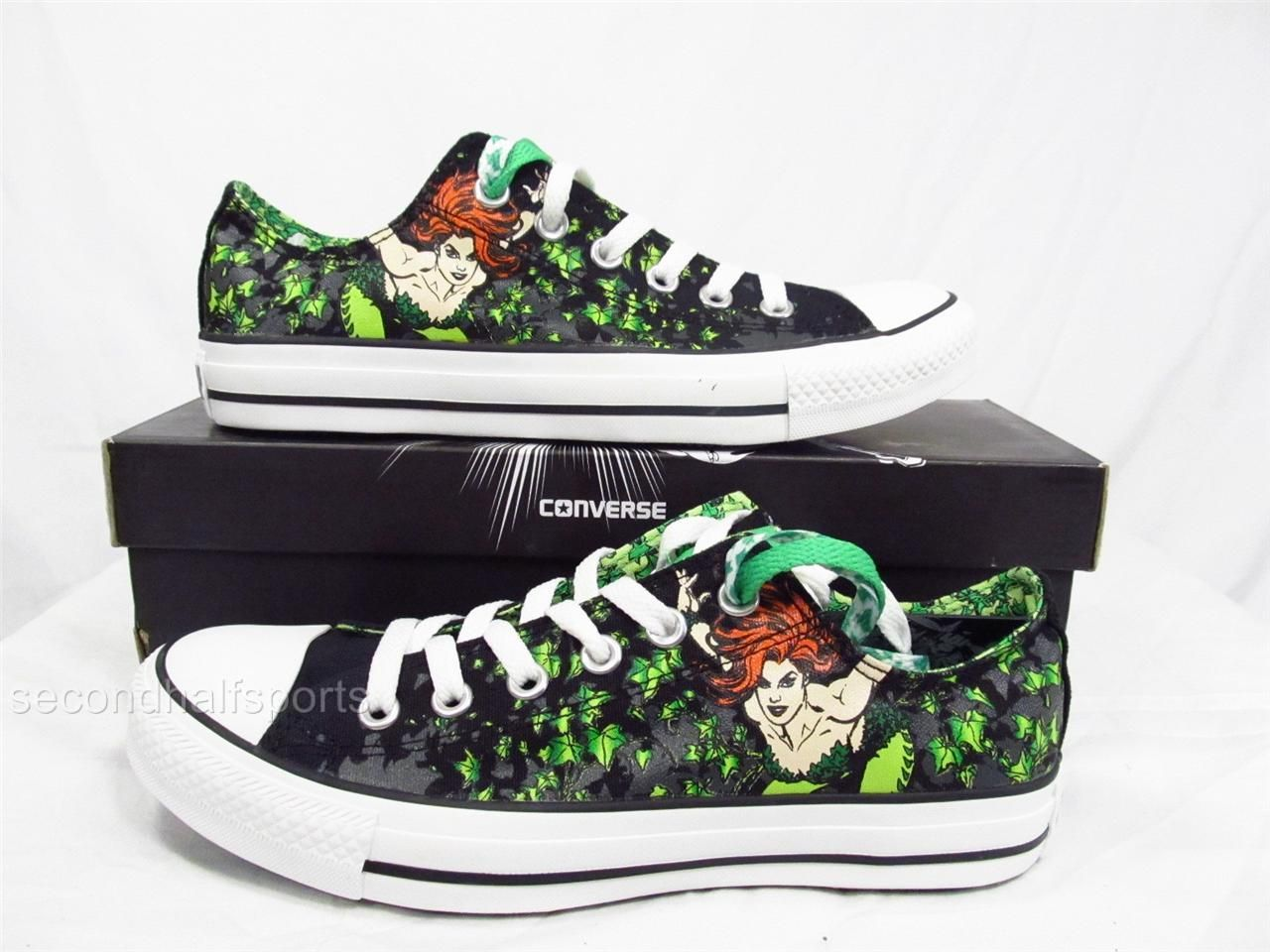 46bb9c7dd004 Converse Batman Poison Ivy Chuck Taylor All Star Shoes DC Comics Mens  WomenS