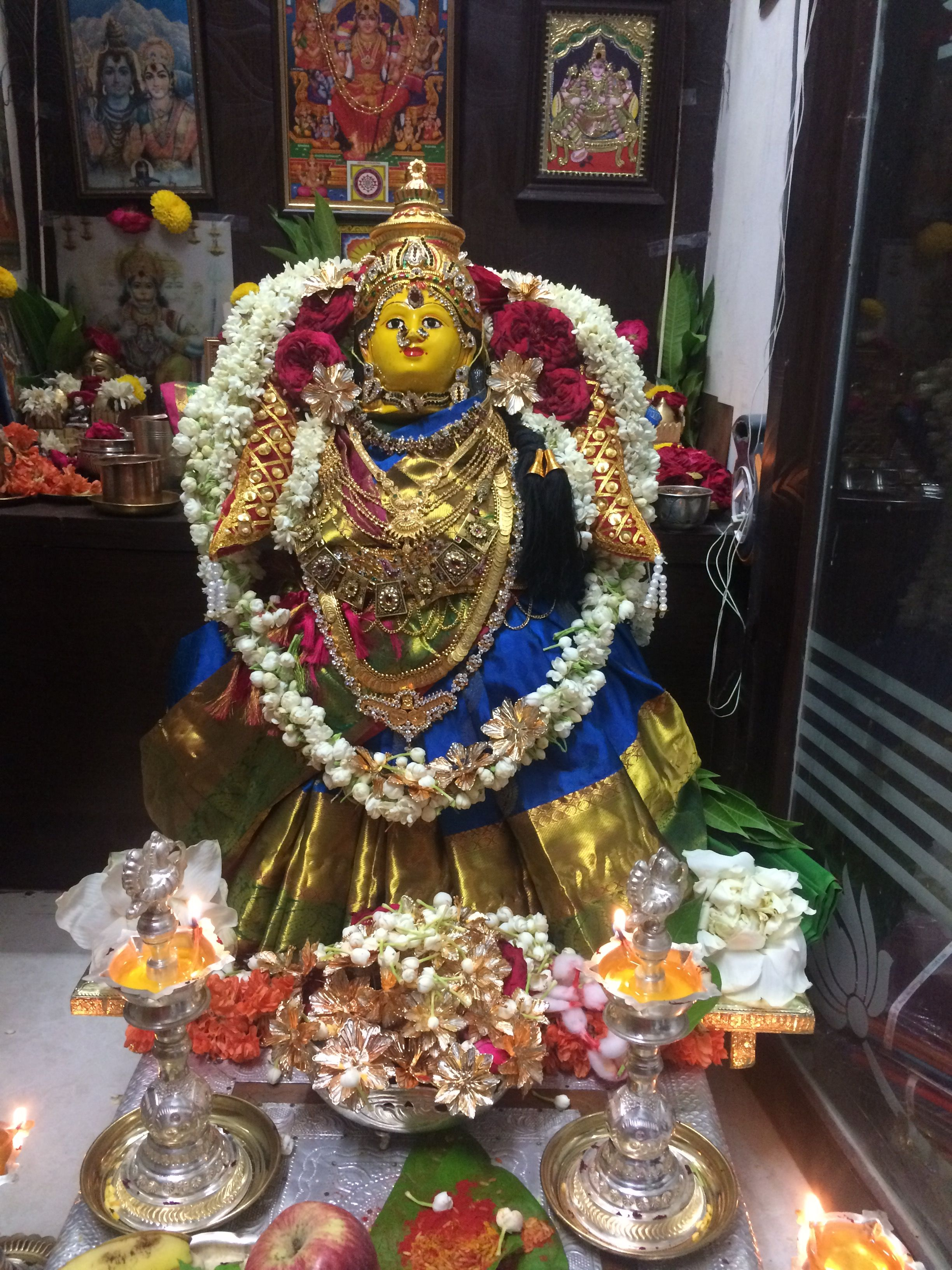 varalakshmi puja decoration varalakshmi decoration pinterest