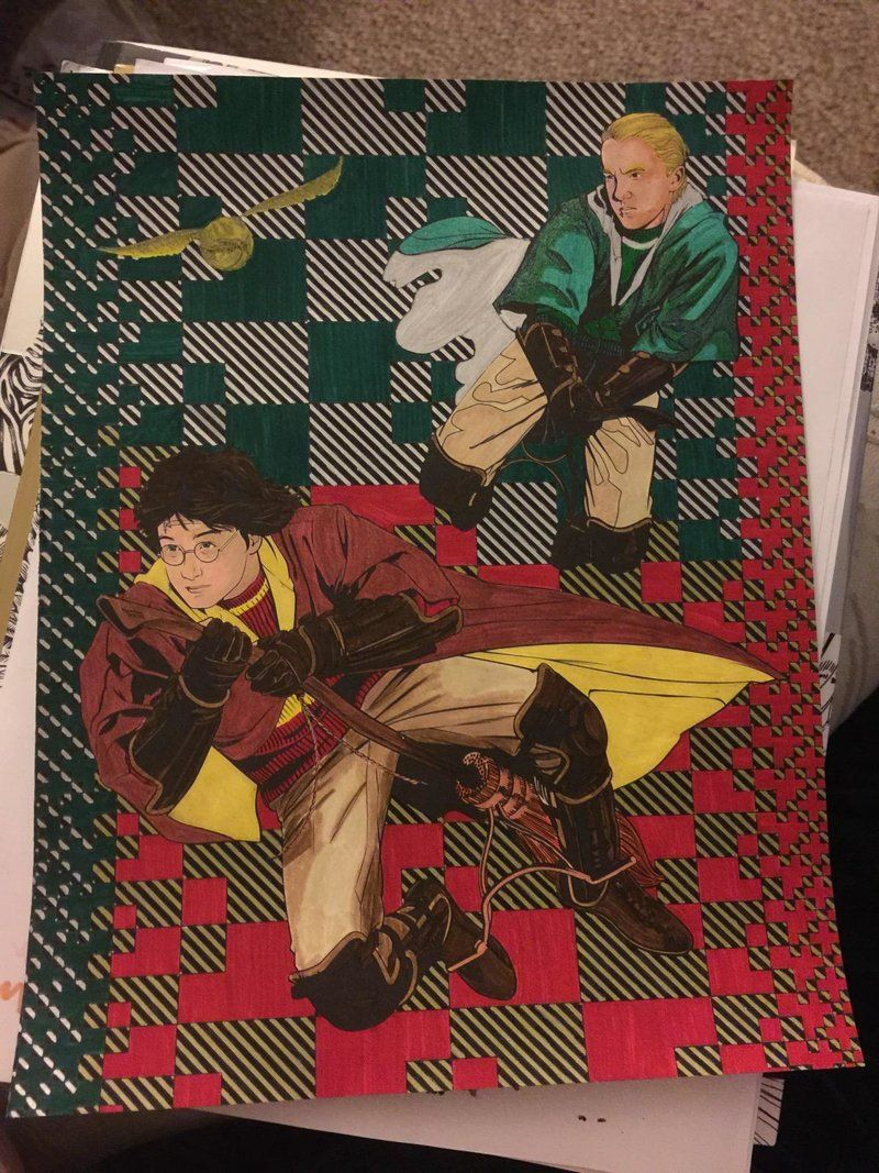 Harry Potter Coloring Book Finished