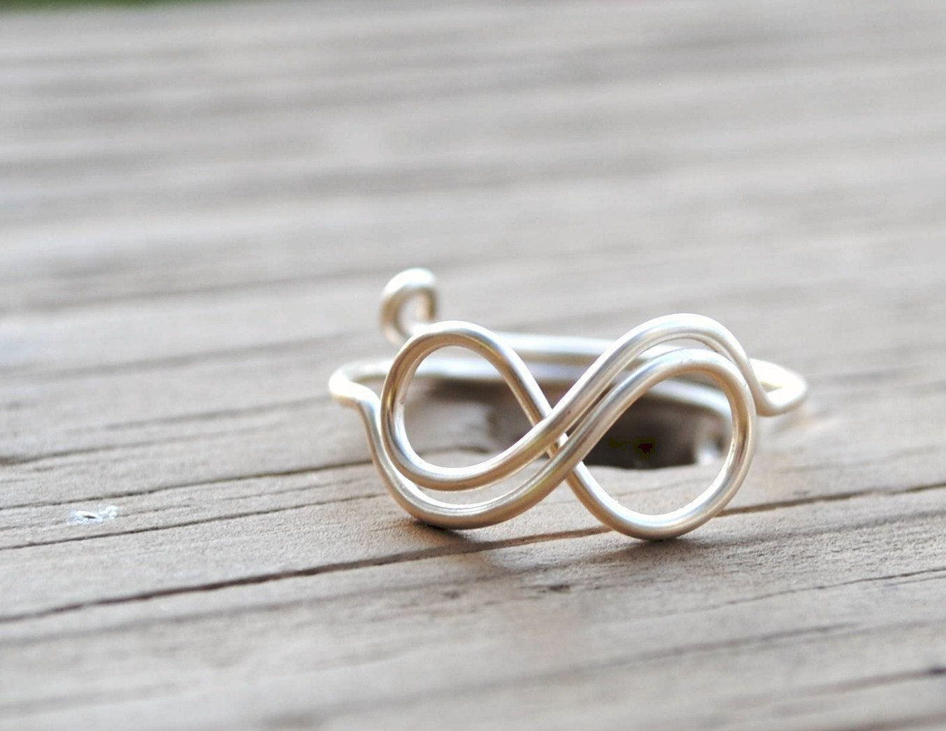 Adjustable Wire Wrapped Ring Silver Infinity Ring | DIY Jewelry ...