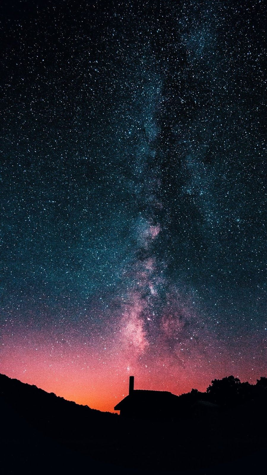 Red milky way of the night in 2020 Free iphone wallpaper