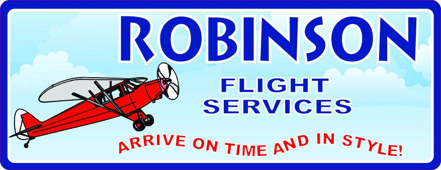 $39.95 Airplane Red Custom Sign | Personalized | http://www.funsignfactory.com/products/red-airplane-custom-sign