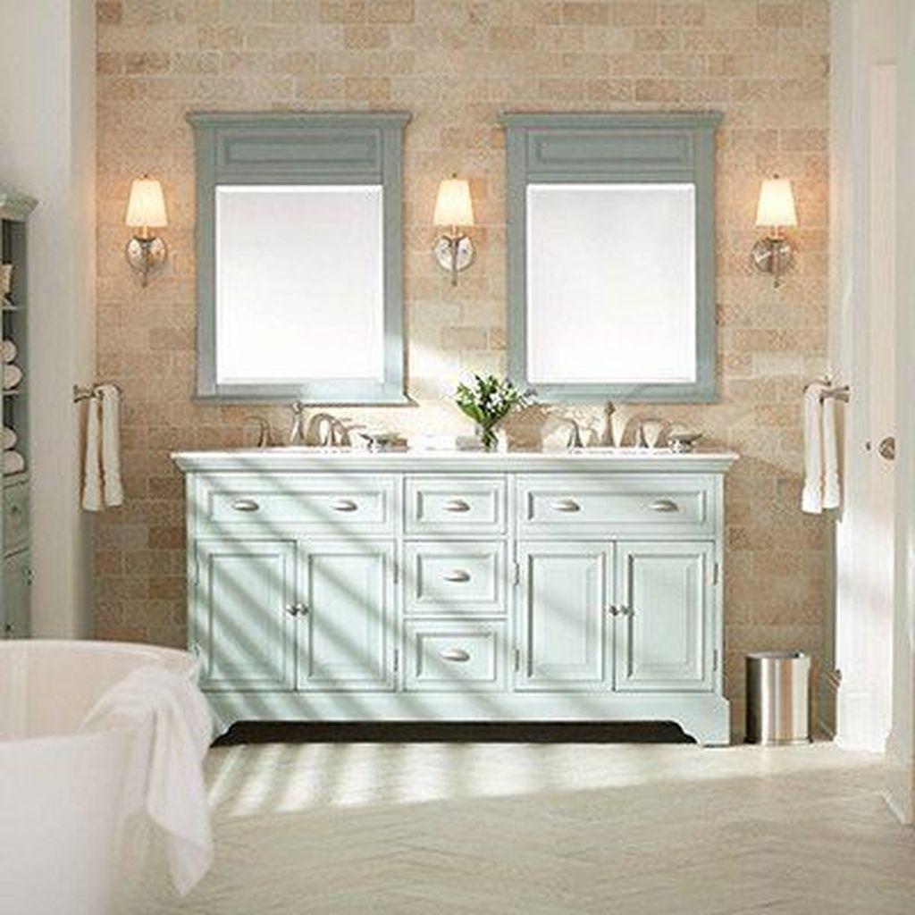31 Amazing Farmhouse Bathroom Vanity Design Ideas In 2020