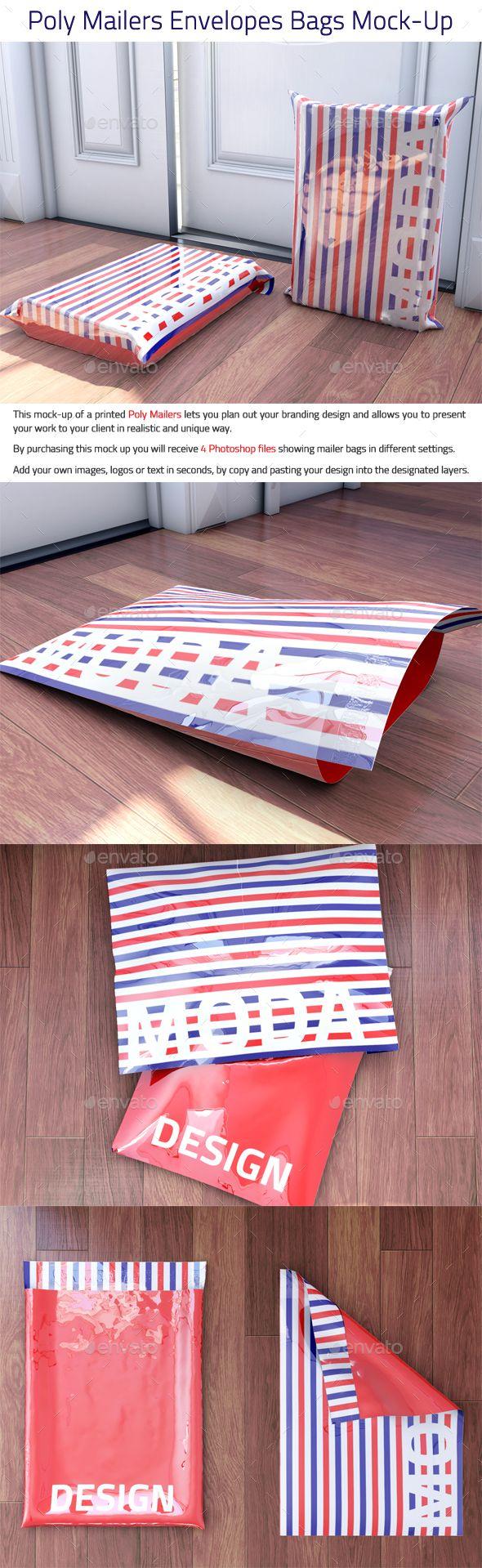 Poly Mailers Envelopes Bags MockUp  Envelopes Mockup And Bag