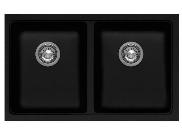 Reece Kitchen Sinks Franke impact granite double undermount sink onyx 1501 old burke franke impact 802 umnt double bowl sink black granite from reece workwithnaturefo