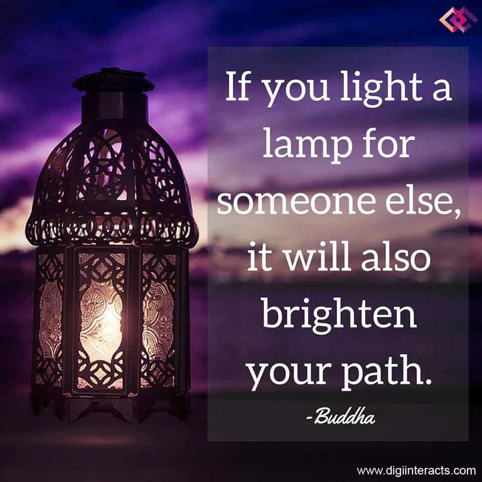Spiritual Love Quotes: If You Light A Lamp For Someone Else,it Will Also Brighten