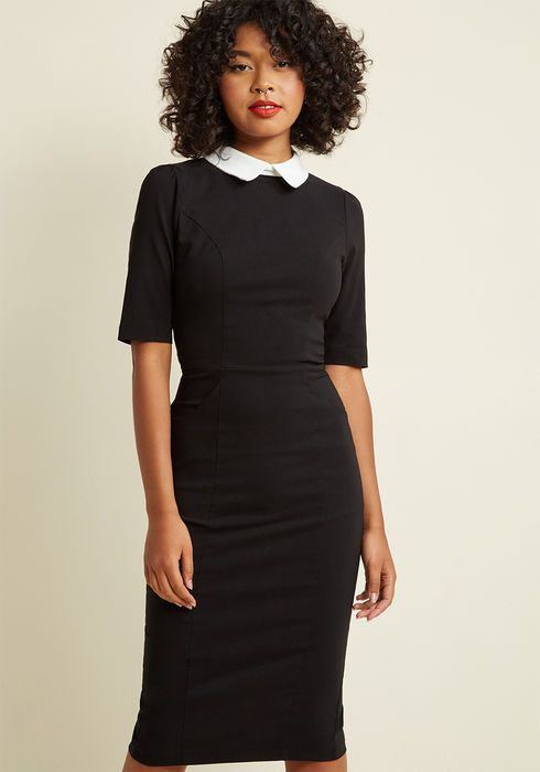 c4603c26243 Collectif Make My Wednesday Fitted Midi Dress