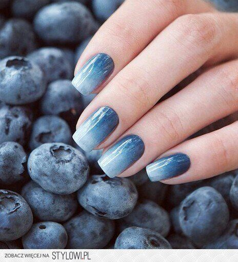 Photo Angel Style Blue Nails Pinterest Blueberry Nail
