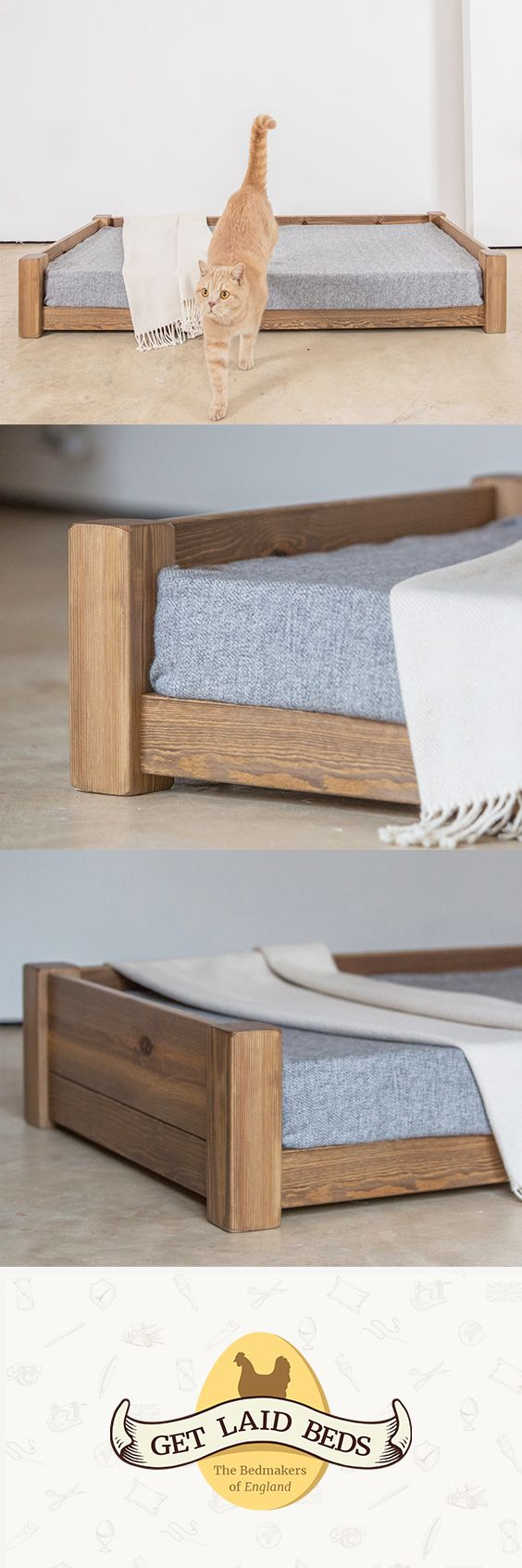 The Perfect Pet Bed in 2020 Wooden pet bed, Pet bed
