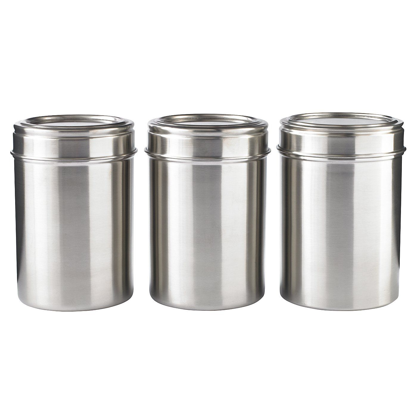 Buy George Home Pack Of Three Stainless Steel Canisters From Our