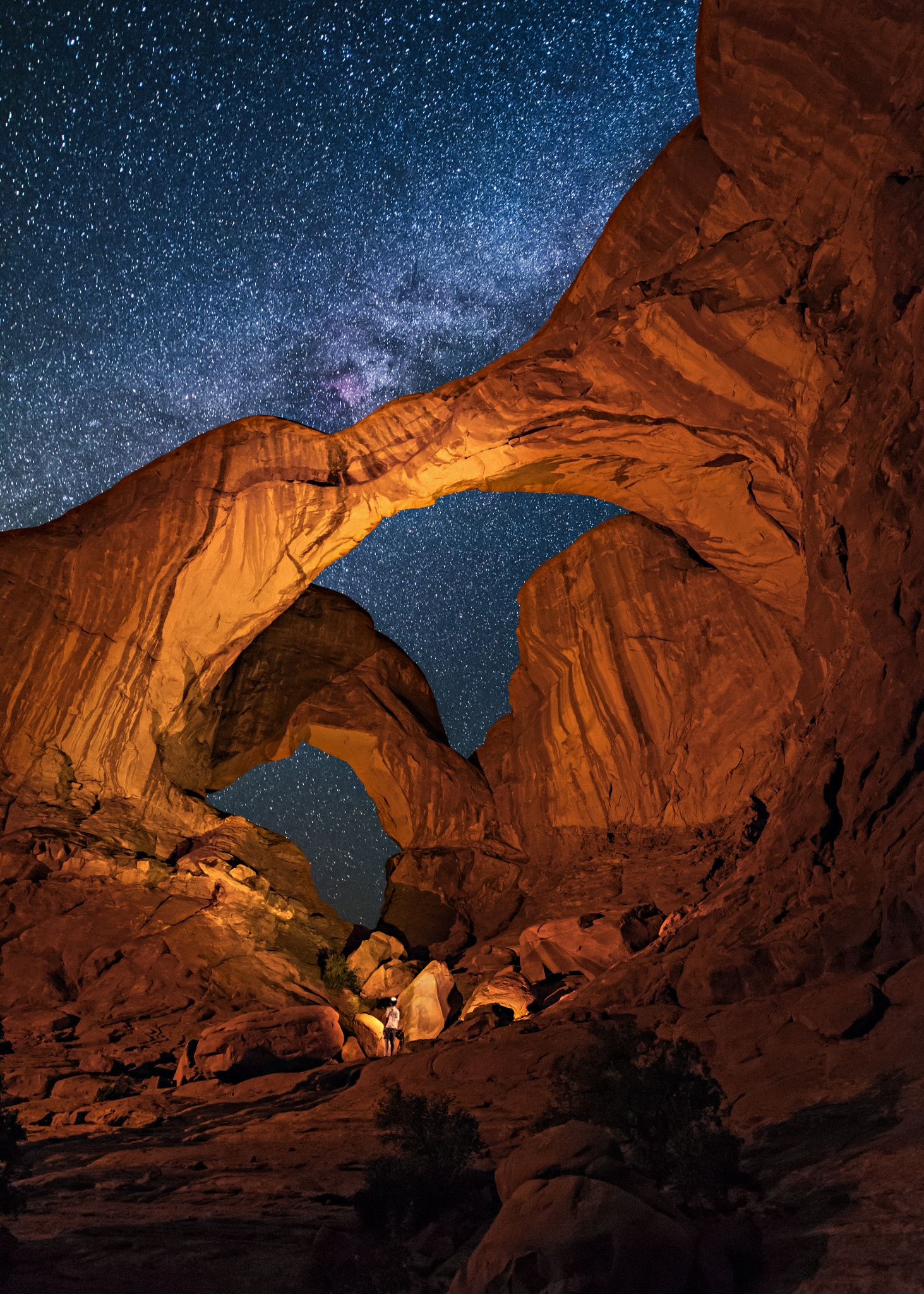 Double Arch This Is A Nighttime View Of Double Arch In