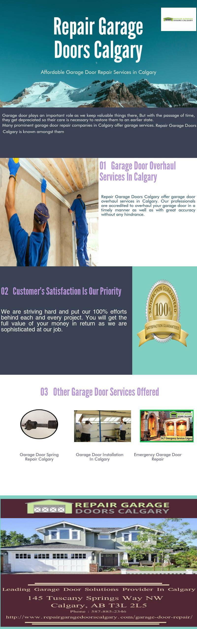 Repair Garage Doors Offer Effective Garage Door Repair Service In