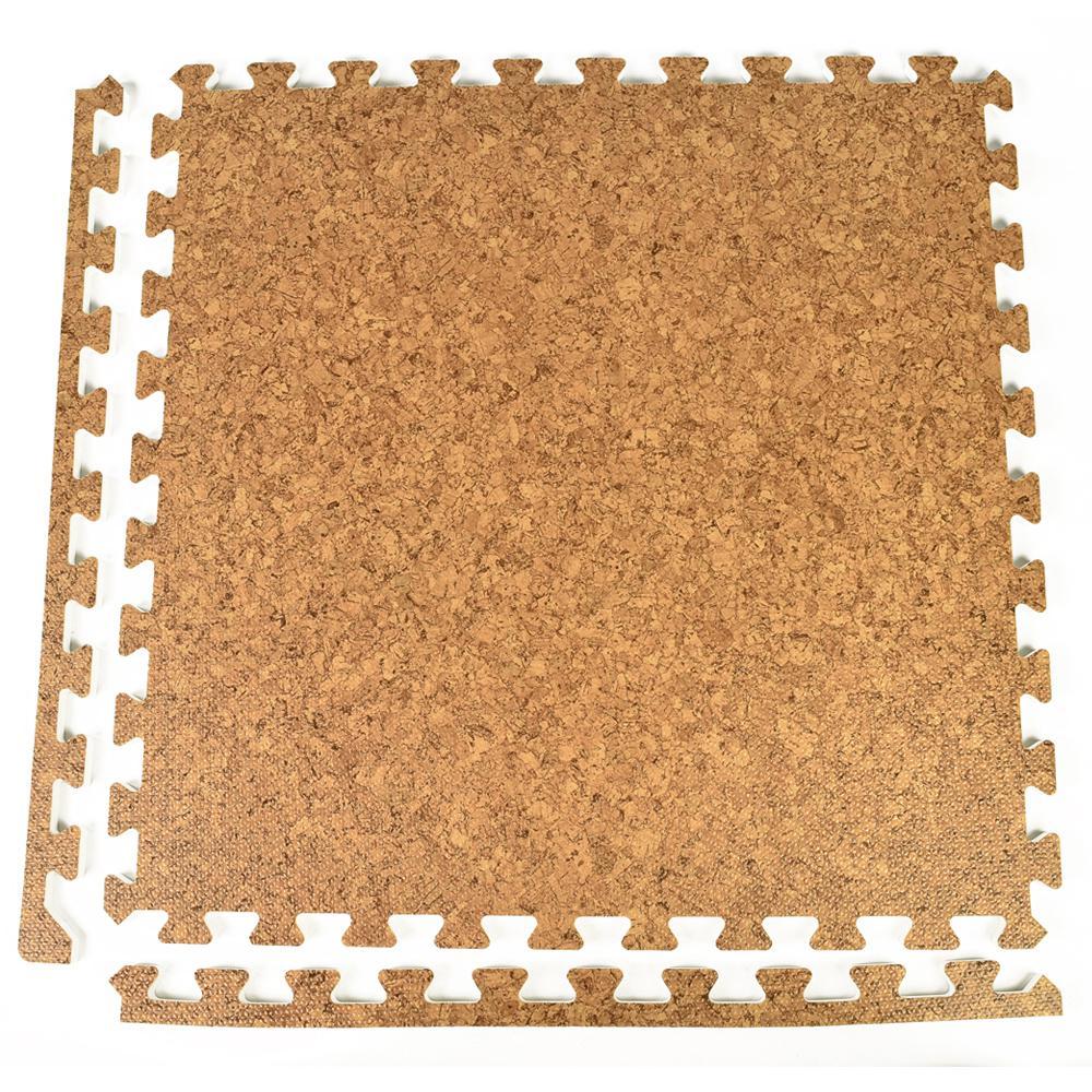 Greatmats Foamfloor Cork Design 2 Ft X 2 Ft X 1 2 In Foam