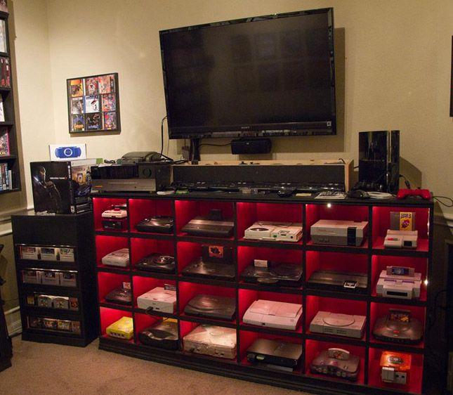 El cuarto de juegos definitivo - Colección de consolas | gamer ideas ...