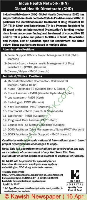 Indus Health Network Karachi Jobs  Jobs In Pakistan