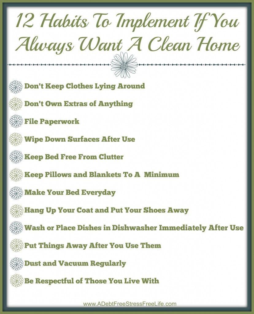 Why You Always Lying Clean : always, lying, clean, Habits, People, Always, Clean, Checklist, {Free, Printable}, Cleaning, Hacks,, Tips,