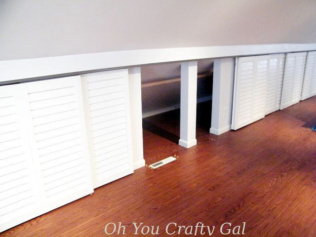 Attic Knee Wall Hanging Closet With Custom Sliding Doors