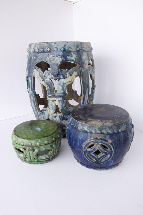 Antique Asian Garden Stools