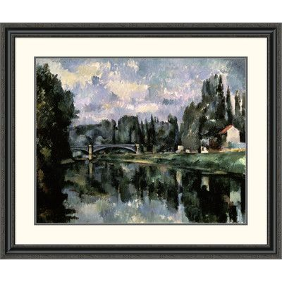 Global Gallery 'Bridge over the Marne at Creteil' by Paul Cezanne Framed Painting Print Size:
