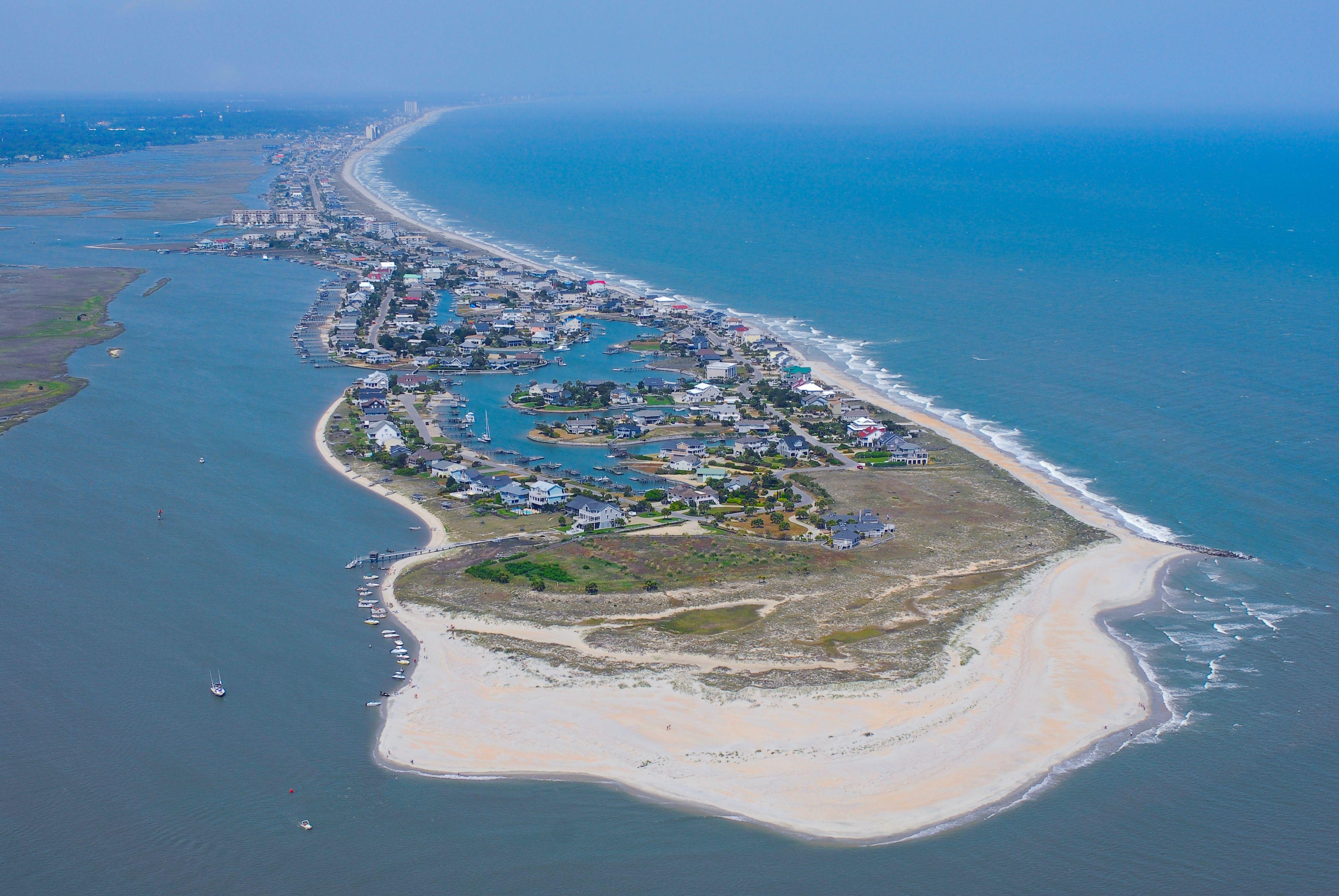 garden city sc beach. Aerial View Of Garden City Beach, SC. Sc Beach E