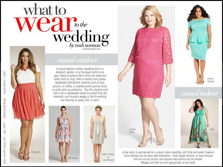 1195df3fbac Need Ideas On What To Wear To The Wedding  PMM s Executive Fashion Director  Reah Norman Offers Her Picks - PLUS Model Mag