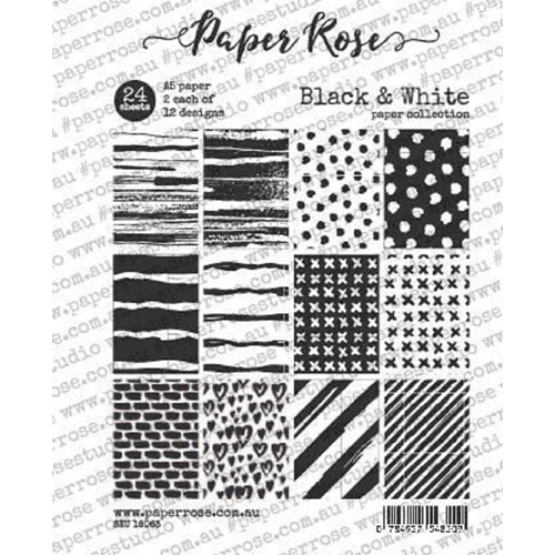 Paper Rose Black And White Paper Pack 18063 At Simon Says Stamp Paper Pack Paper Roses White Paper