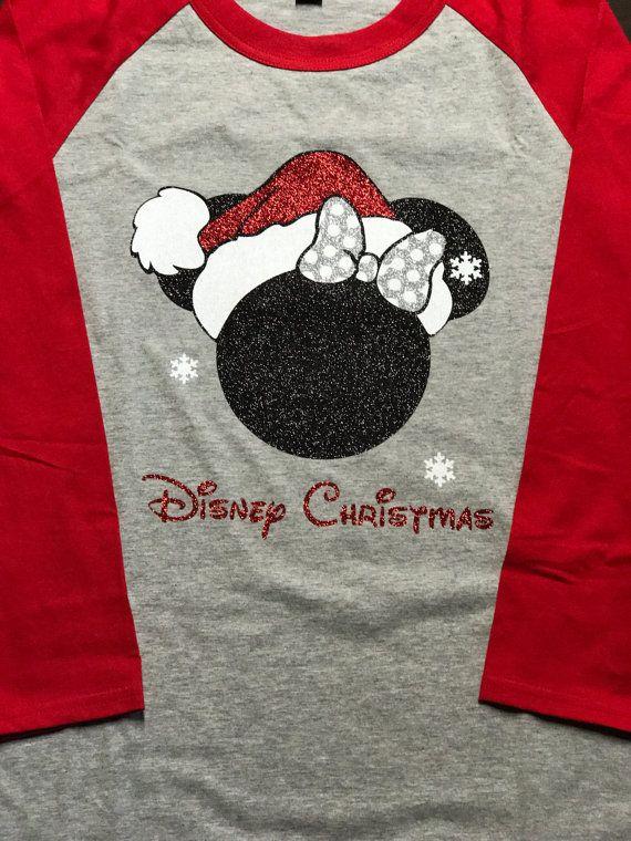 Disney Girls Minnie Mouse Holiday Shirt Santa/'s Favorite Christmas T-Shirt
