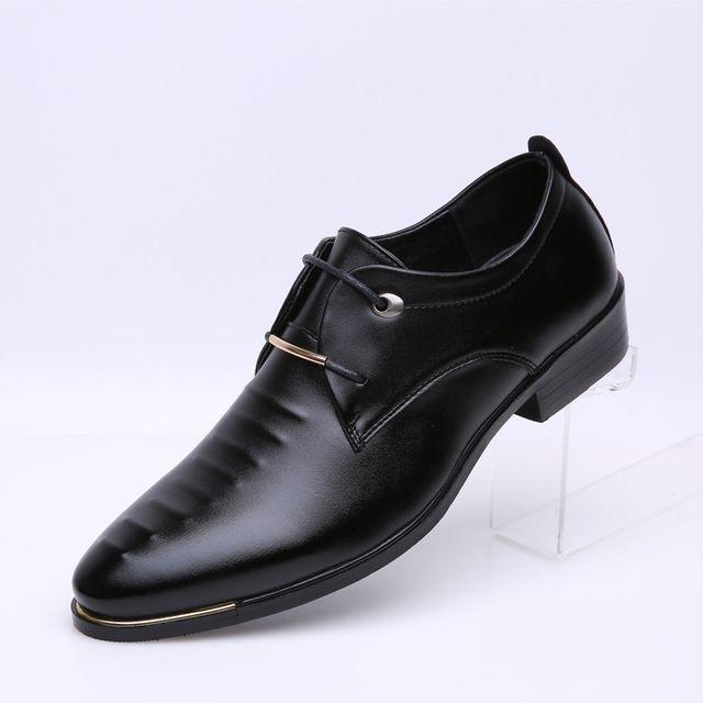 Tamaño La Zapatos De 38 Marrón 2016 Los Pu Vestir Hombres 46 Diseñador Formales Clásicos Oxfords Wingtip Negro Italianas 0XwZpq