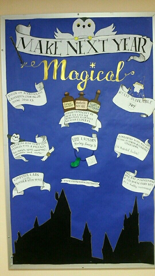 Classroom Design Hacks ~ Harry potter themed bulletin board r a l y f e