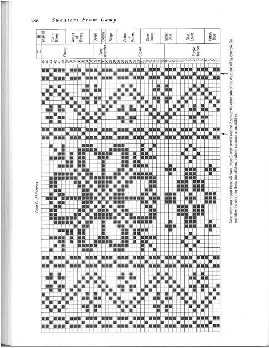 196 (540x700, 221Kb)   Noors breien-Fair Isle   Pinterest   Leggins ...