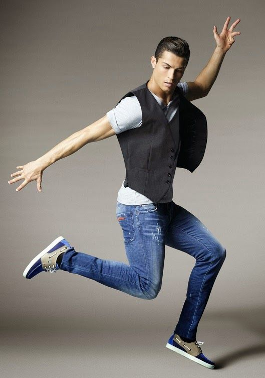 31c8ad7ed429 Cristiano Ronaldo For CR7 Footwear Campaign   jean skin tight ...