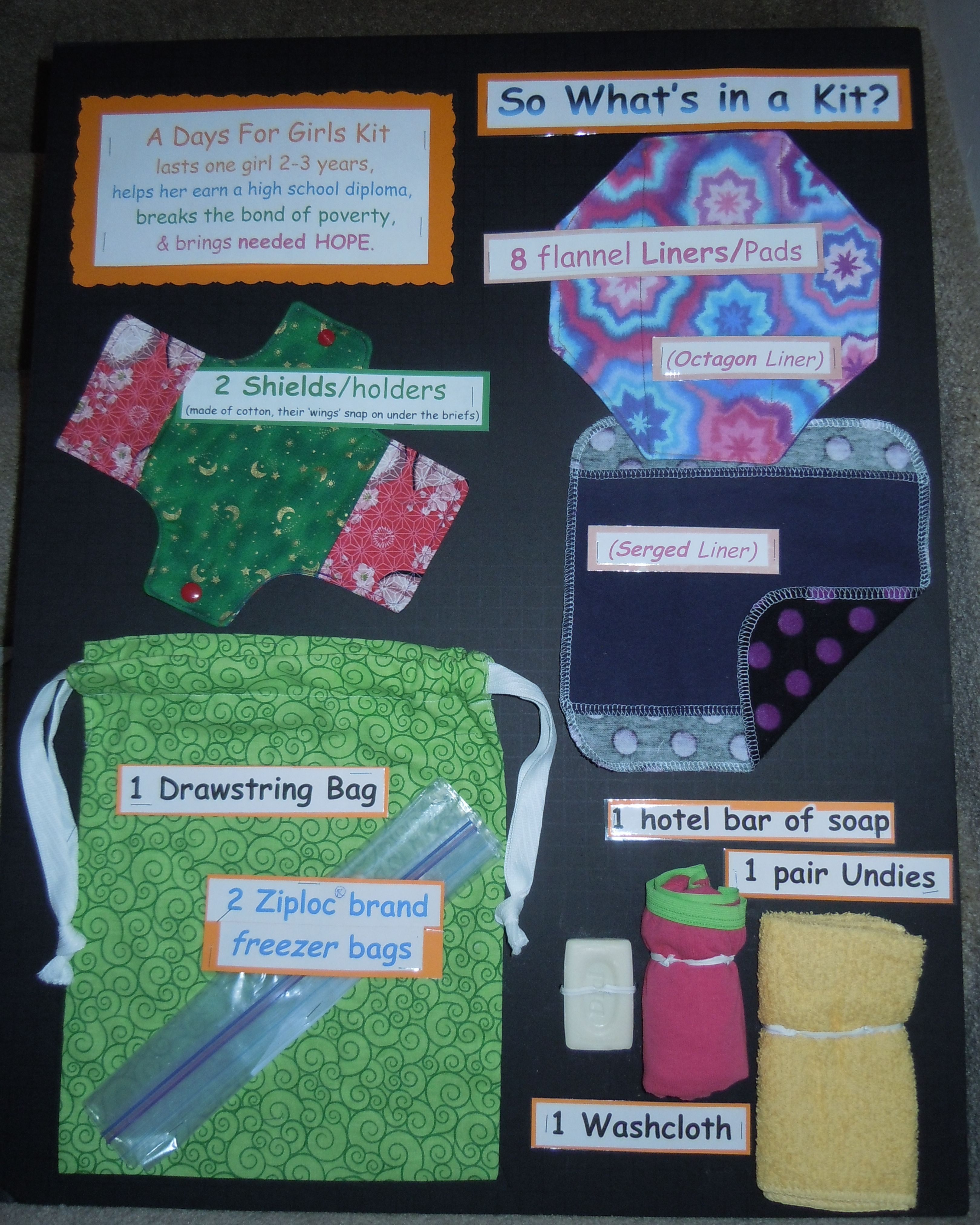 Days for girls poster showing the kit | RS Meetings | Pinterest ...