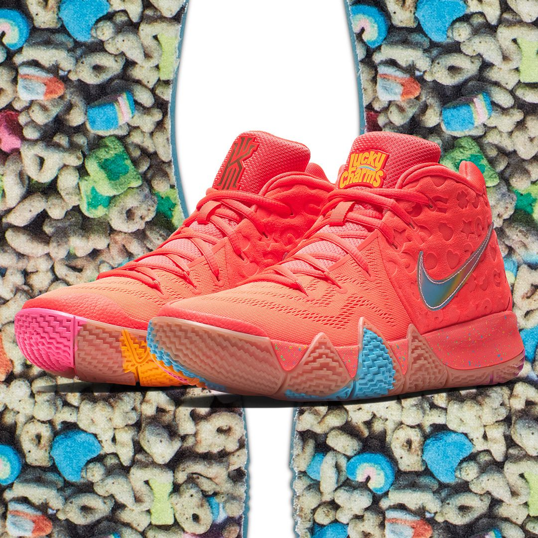 66285c3d96f Kyrie 4  Cereal Pack  releasing via Nike SNKRS August 11. As part of a  collaboration with General Mills