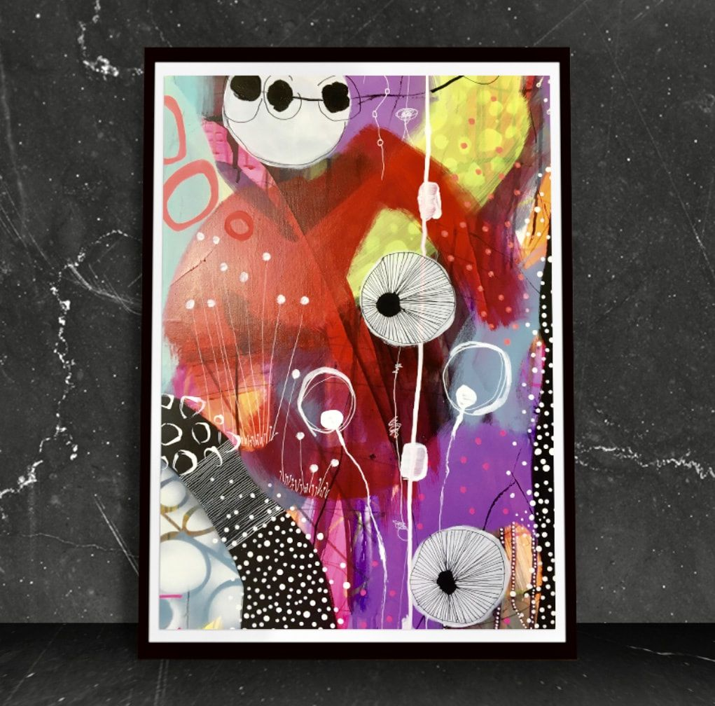 Billede Abstrakte Malerier Inspirerende Kunst Og Kunstmalerier