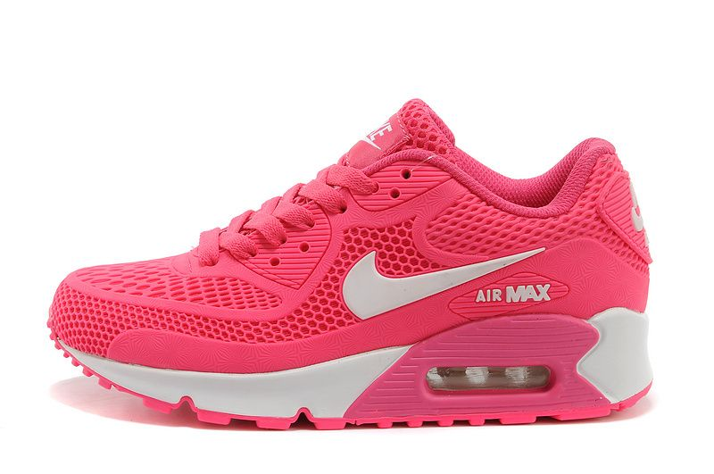 2014 Latest Nike Air Max 90 running shoes for women pink white on .