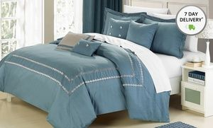 Groupon - 7-Piece Mandalay 200-Thread-Count Comforter Set. Multiple Colors Available. Free Shipping and Returns. in Online Deal. Groupon deal price: $1.10
