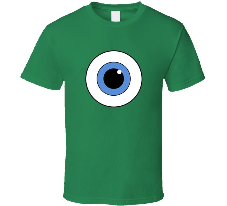 Mike Wazowski Eye Monsters Inc Halloween Costume T Shirt Monsters Inc Halloween Costumes Monsters Inc Halloween T Shirt Costumes