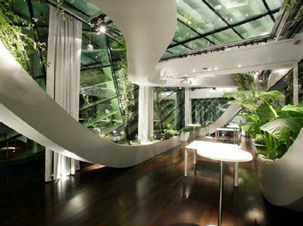 Work Is Beautiful 10 Amazing Offices Around The World Thecoolist The Modern Design Lifestyle Magazine Indoor Design Interior Garden Indoor Gardens
