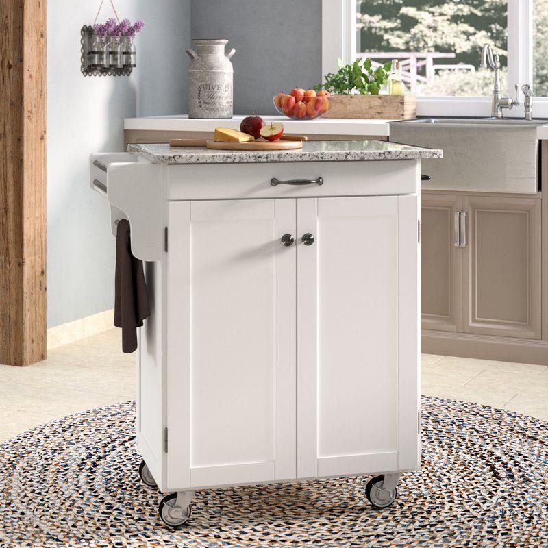 Savorey Kitchen Cart With Granite Top Small Apartment Kitchen Kitchen Cart Stone Countertops
